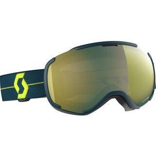 Scott Faze II, blue/Lens: enhancer yellow chrome - Skibrille