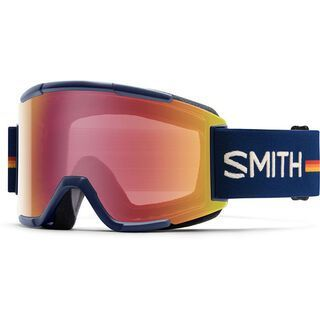 Smith Squad + Spare Lens, navy owner operator/red sensor mirror - Skibrille