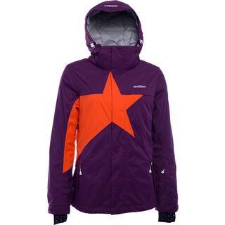 Zimtstern Snowy 17, plum/tangerine - Snowboardjacke