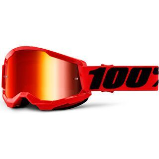 100% Strata, red/Lens: red mirror - MX Brille