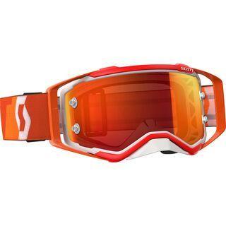 Scott Goggle Prospect, orange/white/Lens: orange chrome - MX Brille
