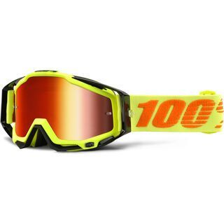 100% Racecraft inkl. WS, attack yellow/Lens: mirror red - MX Brille