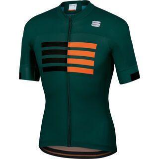 Sportful Wire Jersey, moss/black/orange - Radtrikot