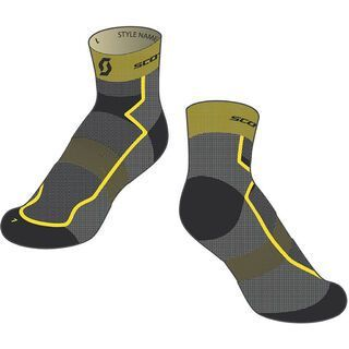 Scott RC Light Socken, black/yellow - Radsocken