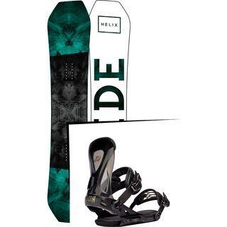 Set: Ride Helix 2017 + Ride Revolt 2016, black - Snowboardset