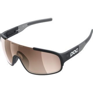 POC Crave, black grey/Lens: clarity light silver - Sportbrille