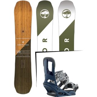 Set: Arbor Coda Rocker 2017 + Burton Cartel 2017, blue steel - Snowboardset