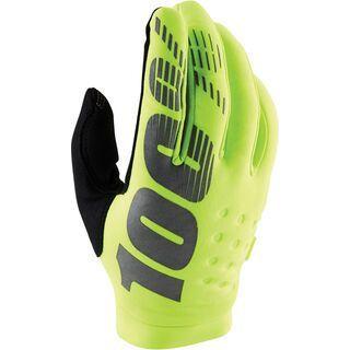 100% Brisker Youth Glove, yellow/black - Fahrradhandschuhe
