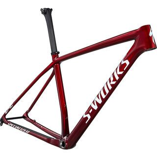 Specialized S-Works Epic HT Frameset 2021, red tint carbon/brushed/white