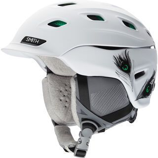 Smith Vantage Womens, matte white feathers - Snowboardhelm