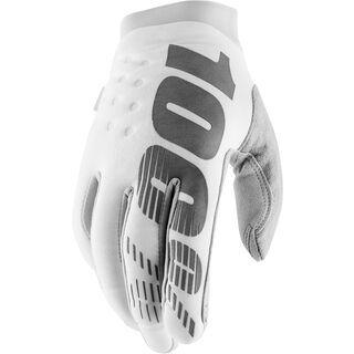 100% Brisker Cold Weather Glove white/silver