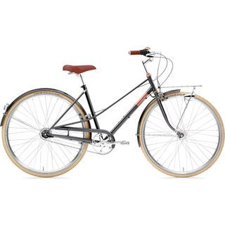 Creme Cycles Caferacer Lady Doppio 2020, sparkling black copper - Cityrad