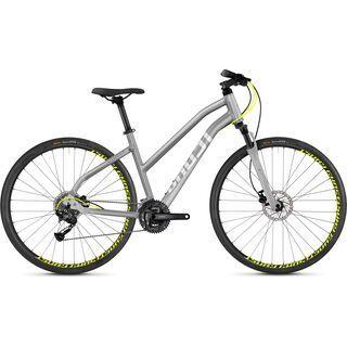 Ghost Square Cross 1.8 W AL 2018, silver/neon yellow - Fitnessbike