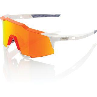 100% Speedcraft Tall, white/orange/Lens: hiper red ml mirror - Sportbrille