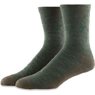 Specialized Techno MTB Tall Sock, oak green - Radsocken