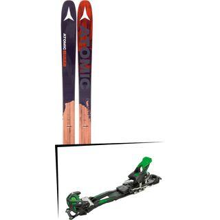 Set: Atomic Backland FR 102 2017 + Tyrolia Adrenalin 16 ohne Bremse, solid black flash green - Skiset