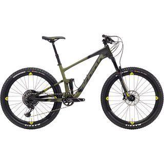 Kona Hei Hei Trail CR/DL 27.5 2018, black/olive/yellow - Mountainbike