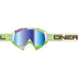 ONeal B-Flex ETR, white green/lens: clear - MX Brille