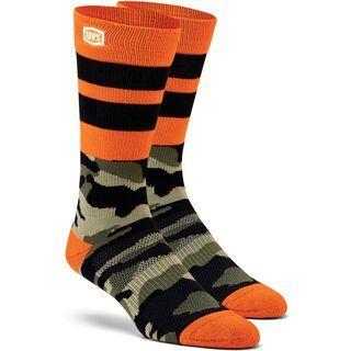 100% Troop Athletic Socks, camo black/green - Radsocken