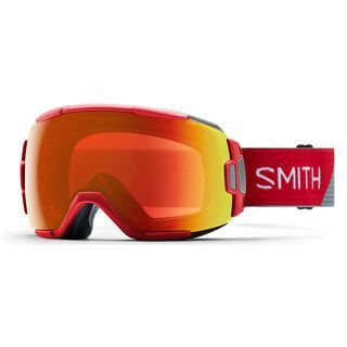 Smith Vice, fire split/Lens: everyday red mirror chromapop - Skibrille