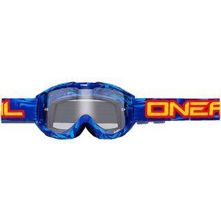 ONeal B1 Icebreaker, blue black/lens: clear - MX Brille
