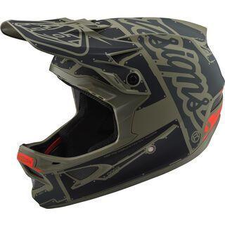 TroyLee Designs D3 Fiberlite Helmet Factory, trooper - Fahrradhelm