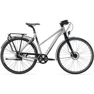 Cannondale Tesoro Mixte 0 2013, brushed aluminum - Trekkingrad