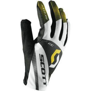 Scott RC LF Glove, white/yellow rc - Fahrradhandschuhe