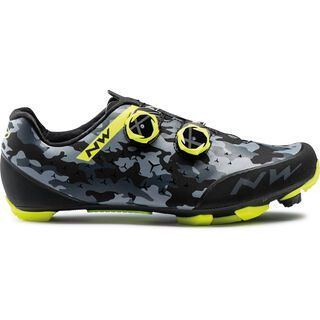 Northwave Rebel 2 camo black/yellow fluo