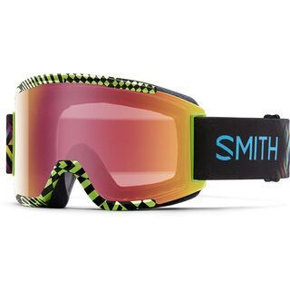 Smith Squad + Spare Lens, neon blacklight/red sonsor mirror - Skibrille