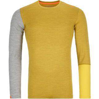 Ortovox 185 Merino Rock'n'Wool Long Sleeve M, yellow corn blend - Unterhemd