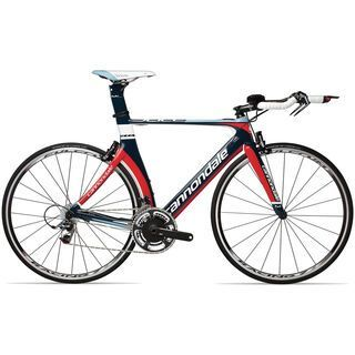 Cannondale Slice Hi-Mod Red 2013, mariner blue w/ race red and 40 blue accents gloss - Rennrad