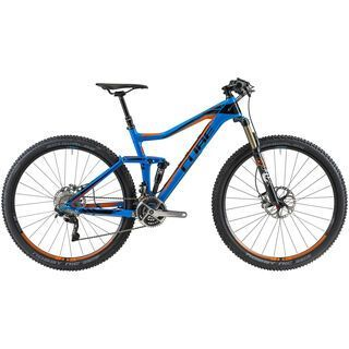 Cube Stereo 120 Super HPC SL 29 2014, blue/orange - Mountainbike