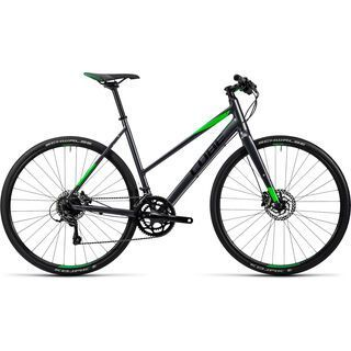Cube SL Road Pro Trapeze 2016, grey black green - Fitnessbike