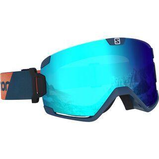 Salomon Cosmic, marrocan blue/Lens: ml mid blue - Skibrille