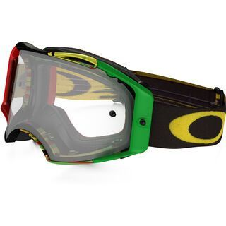 Oakley Airbrake MX, glitch rasta/Lens: clear - MX Brille