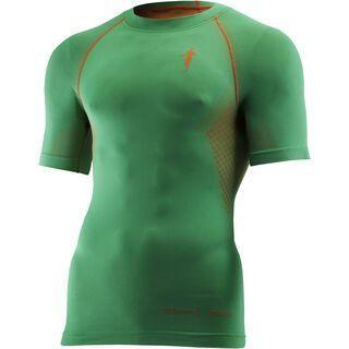 thoni mara Ti-Shirt, jade/orange - Laufshirt