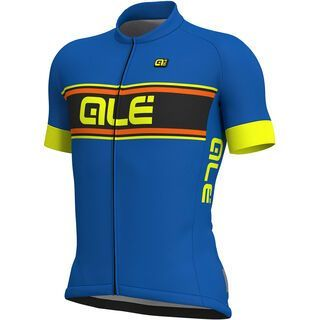Ale Vetta Jersey, blue-fluo yellow - Radtrikot