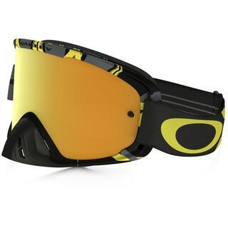 Oakley O2 MX inkl. Wechselscheibe, intimidator gun metal yellow/Lens: 24k iridium - MX Brille