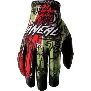 ONeal Matrix Vandal Glove, green/red - Fahrradhandschuhe
