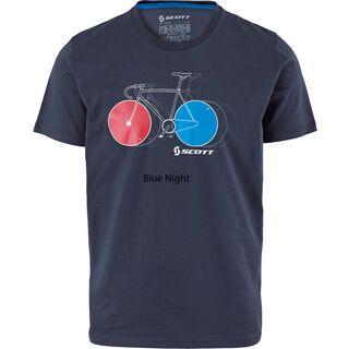 Scott 10 Casual s/sl T-Shirt, blue nights