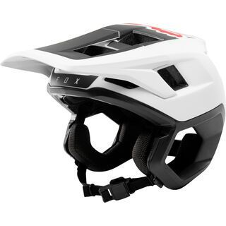 Fox Dropframe Helmet, white/black - Fahrradhelm