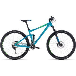 Cube Stereo 120 Race 27.5 2018, blue´n´green - Mountainbike