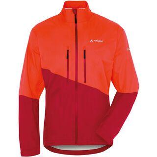 Vaude Men's Tremalzo Rain Jacket, glowing red - Radjacke