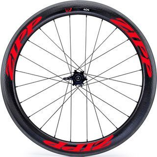 Zipp 404 Firecrest Carbon Clincher, schwarz/rot - Hinterrad