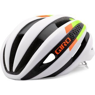 Giro Synthe, matte white lime flame - Fahrradhelm