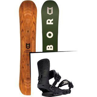 Set: Arbor Formula Premium 2017 + Ride Rodeo 2016, matte black - Snowboardset