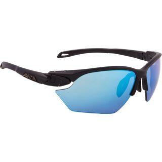 Alpina Twist Five HR S, black matt/Lens: ceramic blue mirror - Sportbrille