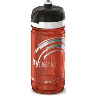 Elite Hygene, transparent/rot - Trinkflasche