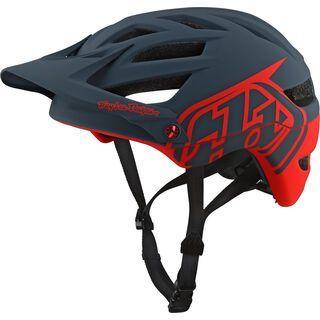 TroyLee Designs A1 Drone Helmet, gray/red - Fahrradhelm